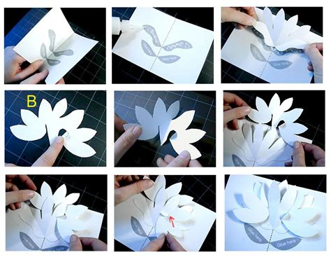 pop up flower template s day pop up flower