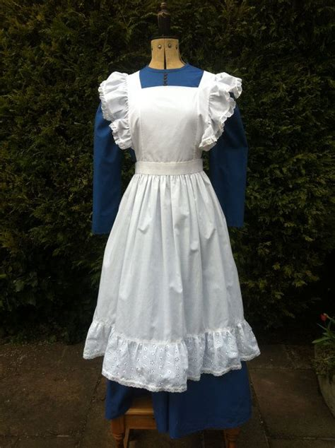 pattern for maids apron victorian styled dress and apron ideal for stage and