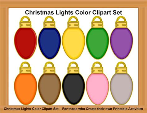 christmas lights clipart yellow pencil and in color