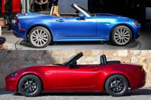 Mazda Fiat Styling Size Up 2017 Fiat 124 Spider Vs 2016 Mazda Miata