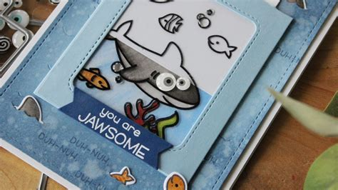 color slider lawn fawn magic color slider duh nuh shark card