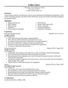 Freight Associate Sle Resume by Big Freight Associate Exle Traditional 1 Design