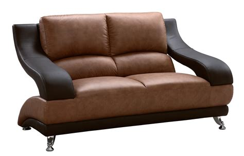 Love Seat Sofa Leather Modern Luxury Living Room Furniture