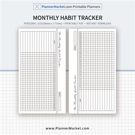 monthly habit tracker printable instant download pdf habit tracker monthly habit tracker 2018 planner