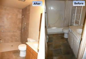 curbless shower tub conversion for a handicap shower in