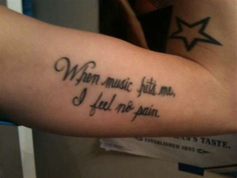 music quote tattoos quote tattoos image quotes at relatably