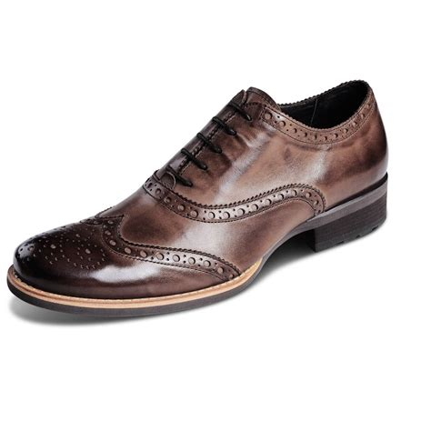 Handmade Brogues - handmade mens antique brown oxford brogues leather sole