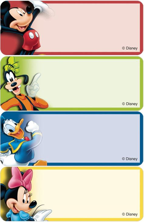 address labels disney labels mickey amp friends address