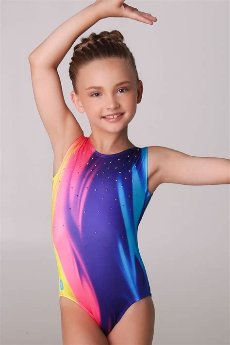 young girl gymnastic leotard models rainbow ice cream leotard sylviap sylviapgymnastics