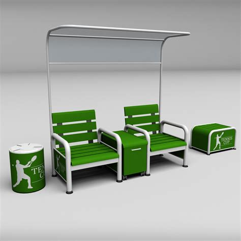 courtroom bench tennis court bench chair by kr3atura 3docean