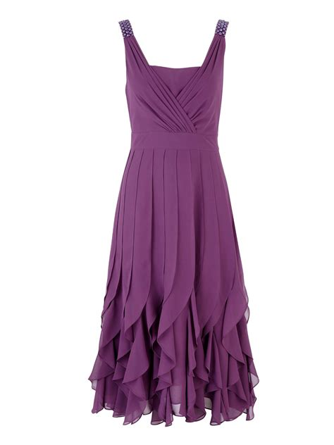 the beaded dresses jacques vert bead detail dress in purple purple lyst