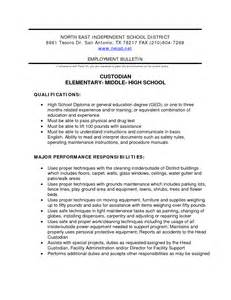Sle Resume For Custodian Position Custodian Quotes Quotesgram