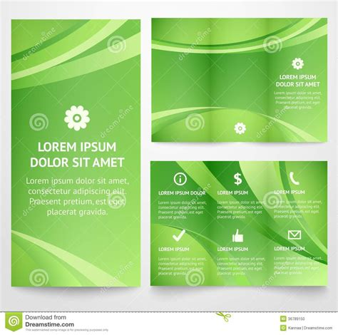 ad templates for business cards 35596 professional three fold business flyer template stock