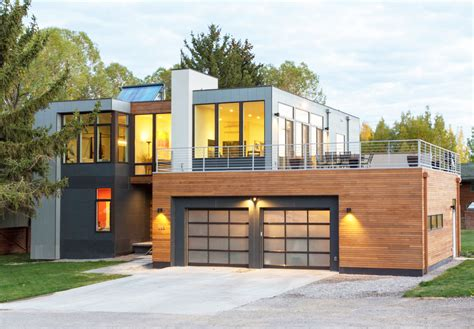 elemental architecture modern open plan home in jackson hole reduces construction