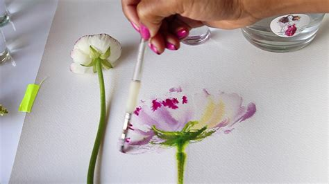 watercolor tutorial flowers youtube watercolor flower tutorial mixing colors wet to wet