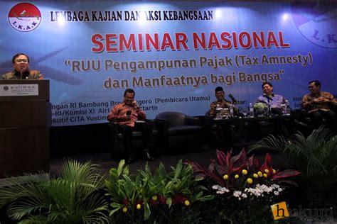 Hukum Pajak Indonesia implementasi tax amnesty terbentur uu perbankan dan uu
