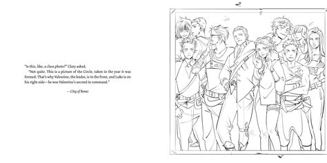 Mortal Instruments Coloring Pages | the official mortal instruments coloring book book by