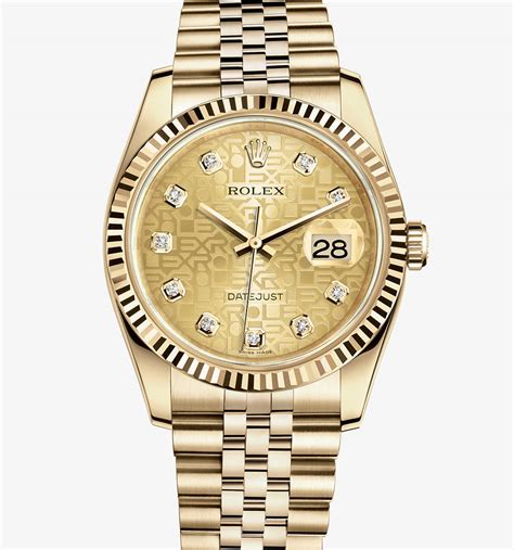 rolex datejust 36 mm 18 ct yellow gold