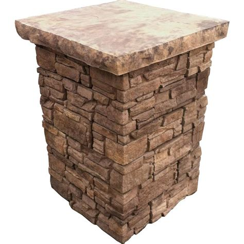 decorative stone home depot stonebilt concepts 39 in telluride stacked stone column kit tel column 39 031 the home depot