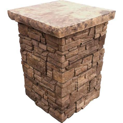 decorative stone home depot stonebilt concepts 39 in telluride stacked stone column