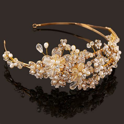 Handcrafted Gold Jewellery - western wedding hair accessories jewelry handmade gold