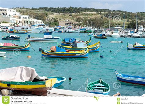 boat dealers malta colored fishing boat malta stock photography