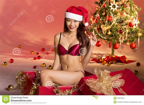 sexy christmas gift royalty free stock photo image 35657845