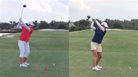 Golf Swing Motion by Inbee Park Vs Ai Miyazato Driver Golf Swing The