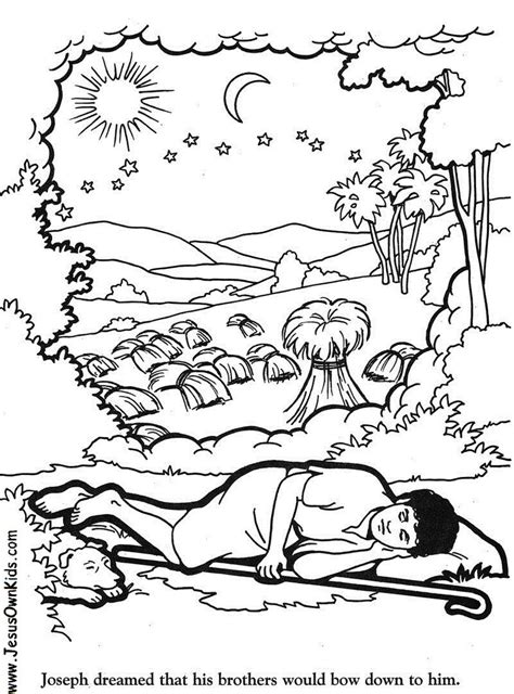 coloring pages of joseph and his dreams 1v genesis josephs dream www jesusownkids com www
