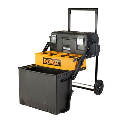tool cabinets on wheels dewalt 16 33 in 88 lbs rolling cantilever tool box in