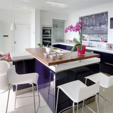 purple kitchen ideas purple gloss kitchen modern kitchen design ideas