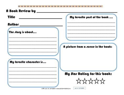 My Book Report Printable by Pin By Fontenot On Edu