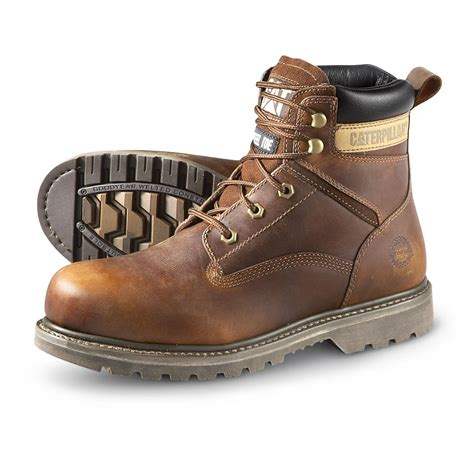 cat work boots for s cat 174 mike rowe 6 quot rangler steel toe work boots