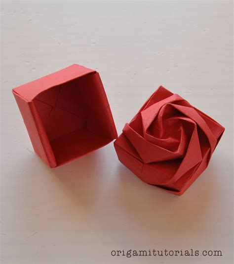Origami Box Tutorial - how to make an origami flower box 28 images origami