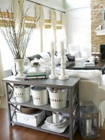 cottage living room add charm with labeled buckets hgtv