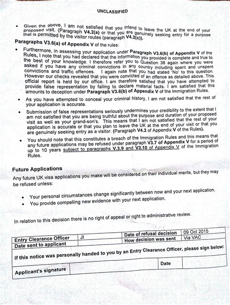Appeal Letter Visa Refusal Uk Uk Standard Visitor Visa Refusal Deception V3 6 B
