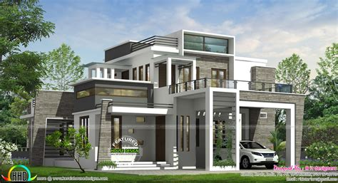 4bhk house 4 bhk modern box type house kerala home design and floor