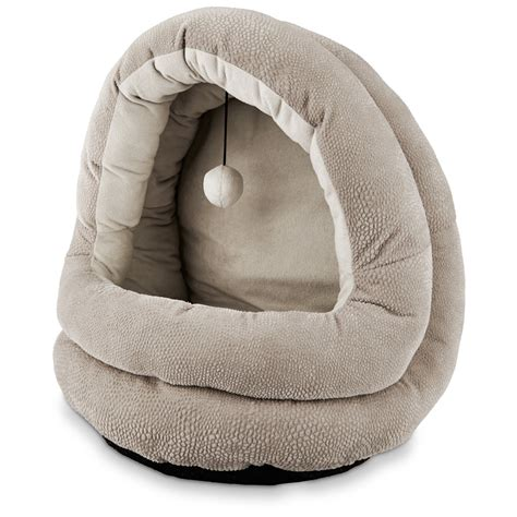 petco cat beds petco hooded cat bed in gray petco