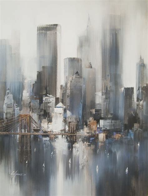 Landscape Paintings New York Easy Acrylic Painting Ideas Abstract Landscape