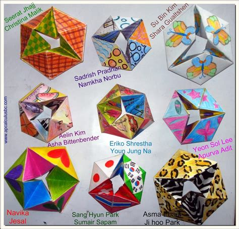 Origami Hexaflexagon - origami sonoran foothills school resources
