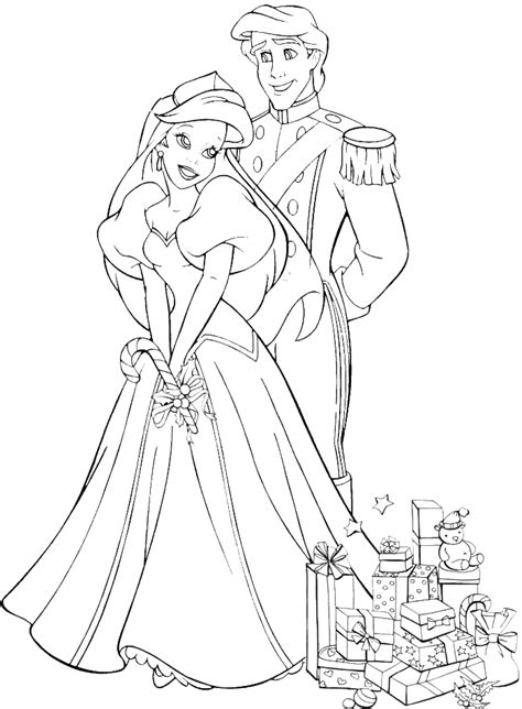 ariel christmas coloring pages christmas princess coloring pages az coloring pages