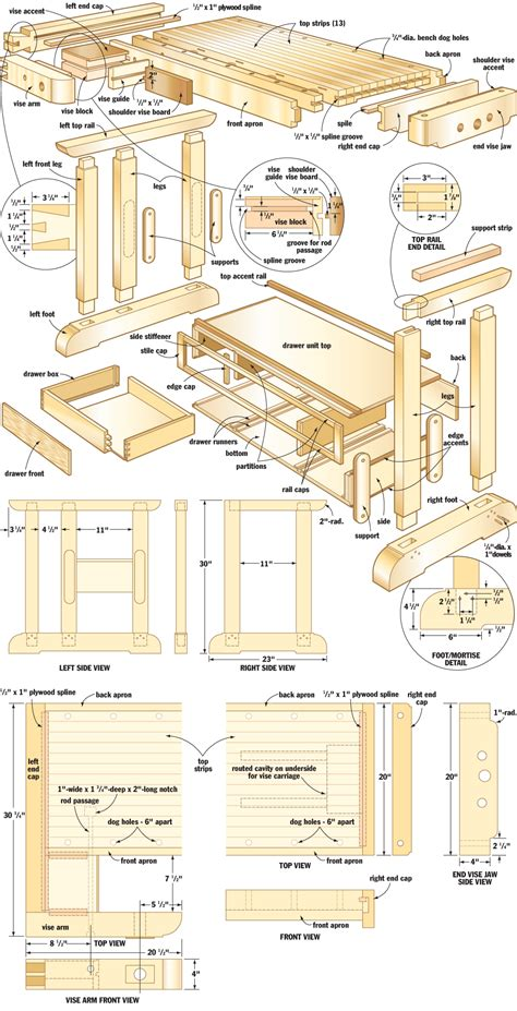 craftsmans workbench woodworking plans woodshop plans