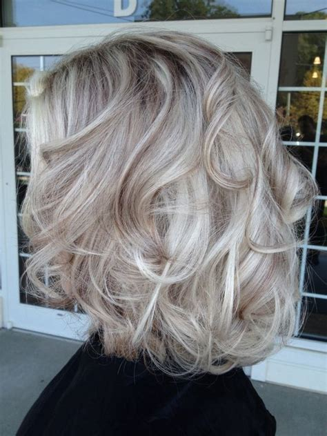 grey blonde and brown hairstyles platinum hair with brown lowlights this color is
