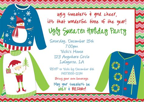 Tacky Christmas Sweater Invitations Gray Cardigan Sweater Sweater Invitation Templates Free