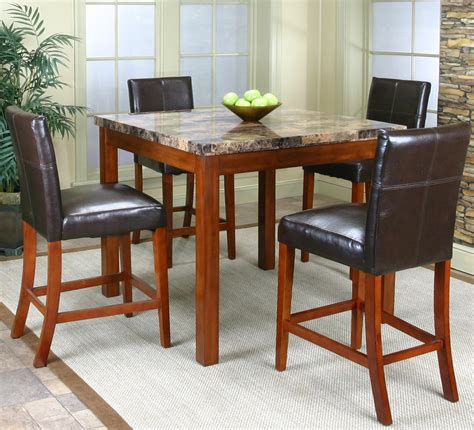 faux marble counter height table counter height table w faux marble top and 4 stools by