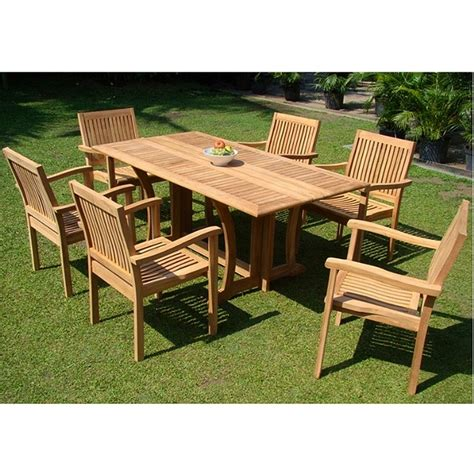teak patio dining set teak patio furniture sets home decor