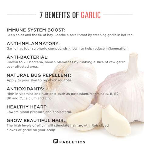 Garlic Detox Benefits by 7 Benefits Of Garlic The Fabletics