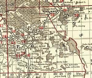polk county florida map florida railroads polk county 1900