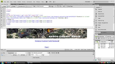 tutorial on dreamweaver cs4 aaroncawrey s blog just another wordpress com site page 2