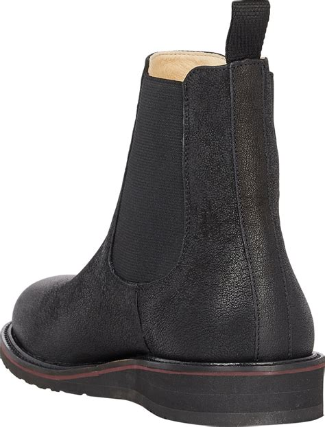 barneys new york wedge sole chelsea boots in black for